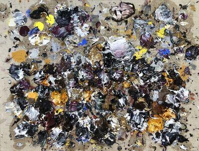 Ismael Lagares, 'Ocher purple X', 2019
