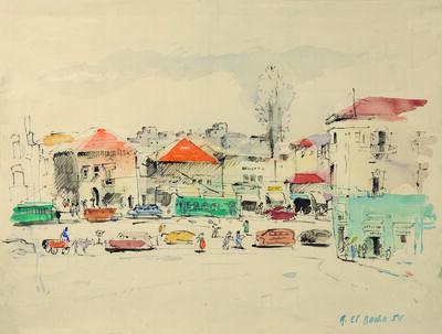 Amine El Bacha, 'La place des Canons', 1954
