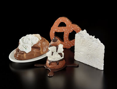 Claes Oldenburg, 'Wedding Souvenir; Baked Potato; Profiterole; and N.Y.C. Pretzel (P. 5; P. 3; G. 1457, P. 22; A. & P. 250.1)', 1966-1994