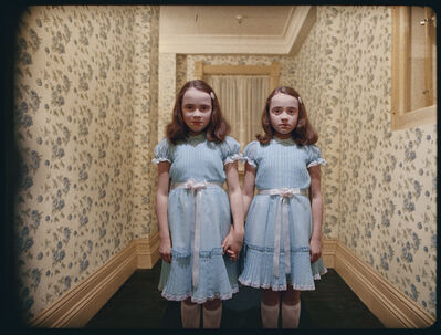 Stanley Kubrick, 'The Shining, directed by Stanley Kubrick (1980; GB/United States). The daughters of former caretaker Grady (Lisa and Louise Burns).', 1980