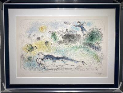 Marc Chagall, 'Les Amoureux à l'Isba', 1980