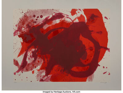 Kazuo Shiraga, 'Passionate Winter, from Official Arts Portfolio of the XXIVth Olympiad, Seoul, Korea', 1988