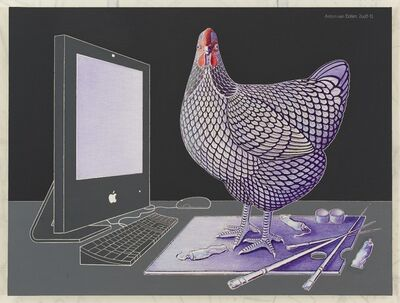 Anton van Dalen, 'iMac, Wyandotte Chicken and Palette', 2009-2011
