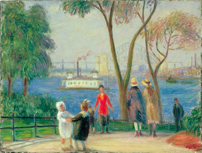 William James Glackens, 'Carl Schurz Park, New York', ca. 1922