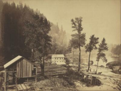 Carleton E. Watkins, 'Eagle Creek, Columbia River', 1867