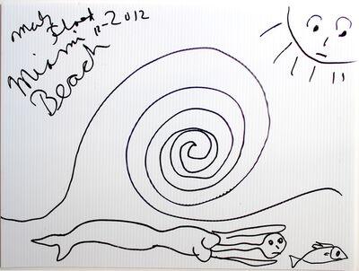 Mark Flood, 'Original drawing - MIAMI BEACH LIKE', 2012