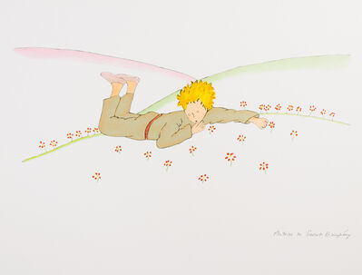 Antoine de Saint-Exupéry, 'The Little Prince Lying On The Grass', 2009