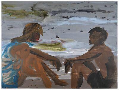 Rainer Fetting, '2 Sitzende am Strand', 2015