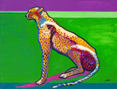 John Nieto, 'Cheetah Surveying His Territory', ca. 2018