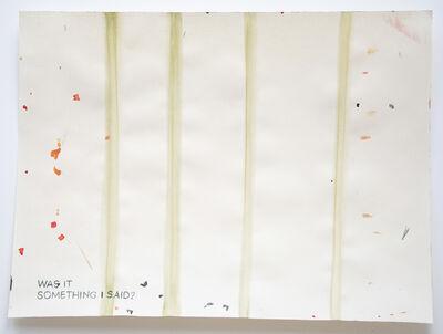 Julia Kuhl, 'Domestic Textiles Series, Was It Something I Said?', 2018