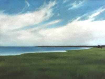 Christie Scheele, 'Harbor in blue and green', 2021