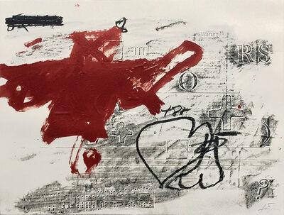 Antoni Tàpies, 'Variation sur un thème musical No.9', 1987