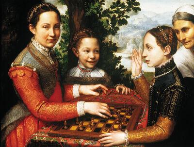 Sofonisba Anguissola, 'The chess game', 1555
