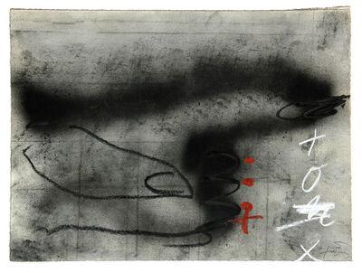 Antoni Tàpies, 'Tres taques roges', 1987