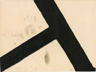 Antoni Tàpies, 'T Inclinada', 1972