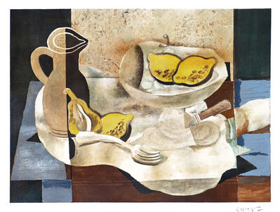 Georges Braque, '	Nature morte (avec un pichet et citrons) [Still Life with Pitcher and Lemons]', ca. 1950