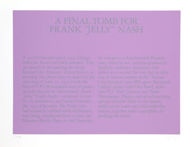 "Robert Morris (b. 1931), ' A Final Tomb for Frank ""Jelly"" Nash', 1980"