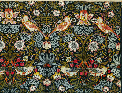 William Morris (1834-1896), 'The Strawberry Thief (Flower and Bird Pattern)', 1884