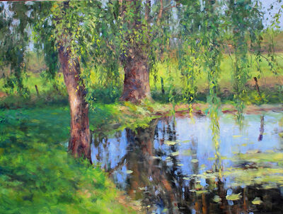 Thomas McNickle, 'WILLOW POND-SPRING LIGHT', 2020