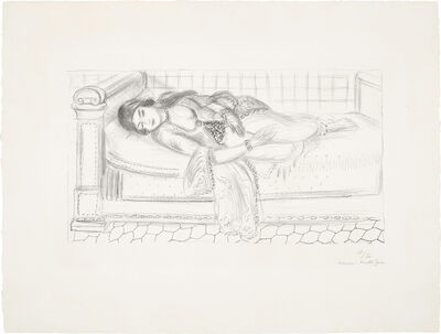 Henri Matisse, 'Orientale sur lit de repos, sol de carreaux rouges (Oriental Day Bed, Red Tiled Floor)', 1929