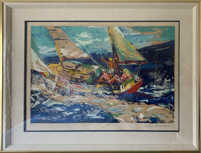 LeRoy Neiman, 'North Sea Sailing', 1981