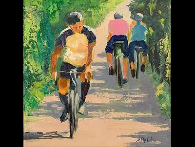 Andrea Petitto, 'Rail Trail Cycling', 2019