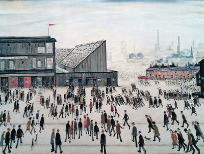 L.S. Lowry, 'Going to the Match', 1972