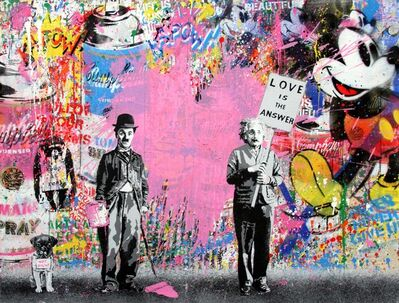 Mr. Brainwash, 'Juxtapose (Pink Heart)', 2017