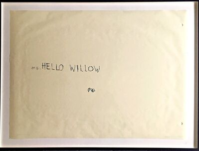 Tracey Emin, 'Hello Willow (unique work created for the daughter of Warhol Foundation agent Tim Hunt and author Tama Janowitz) ', 1997