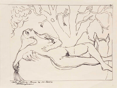 Bob Thompson, 'Lady Godiva Roma', 1966