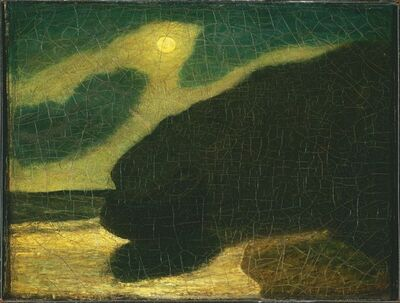 Albert Pinkham Ryder, 'Moonlit Cove', 1880s