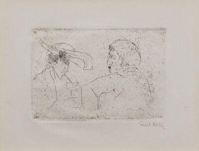 Emil Nolde, 'Beim Absinthe', 1911