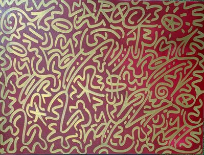 LA II (Angel Oritz), 'Gold on Red', 1997