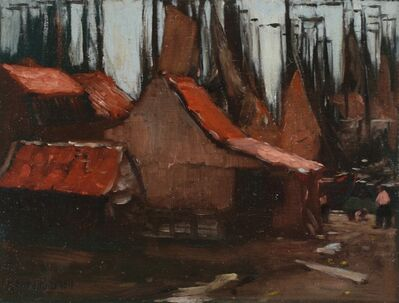 Henry Snell, 'Red Roofs and Sails', ca. 1905