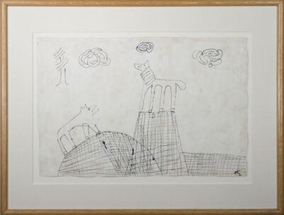 Miguel Castro Leñero, 'Dog&Horse in Landscape on Mountain Top', 1991