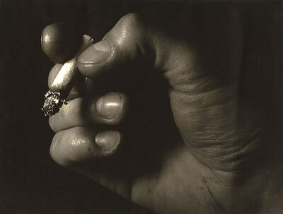 Paul Bertrand, 'Close-up of a Hand and Cigarette', ca. 1950