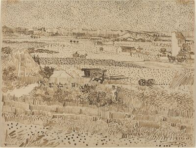 Vincent van Gogh, 'Harvest--The Plain of La Crau', 1888