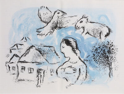 Marc Chagall, 'The Village, from Derrière le Miroir ', 1977
