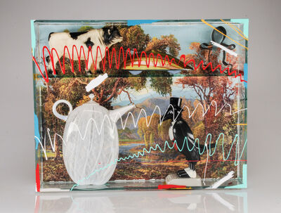 Richard Marquis, 'AUTUMN SCENE PUZZLE WIT TEAPOT AND OLD CROW', 2017