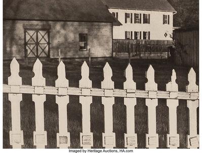 Paul Strand, 'The White Fence, Port Kent, New York', 1917