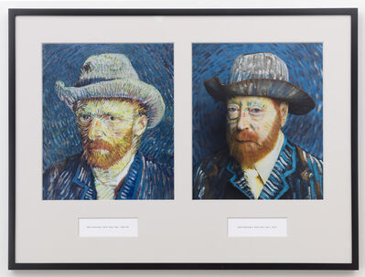 Martha Wilson, 'Self-portrait with Felt Hat, 1887-88, Self-Portrait with Felt Hat, 2014', 2014