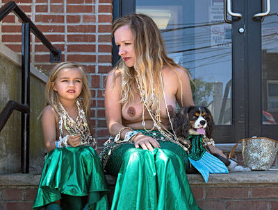 Neil O. Lawner, 'Mother and Daughter Mermaids'