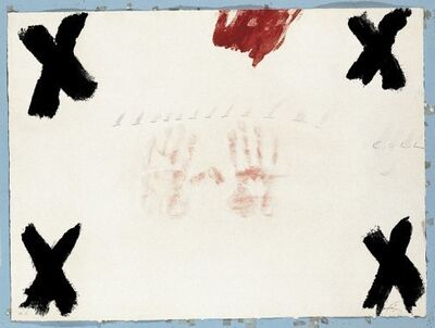 Antoni Tàpies, 'Dues mans', 1976