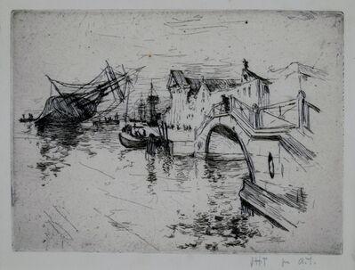 John Henry Twachtman, 'Zattere, Venice', 1880