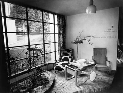 Henry Sarian, 'Artek furniture in the Finnish pavilion at the Paris World's Fair', 1937