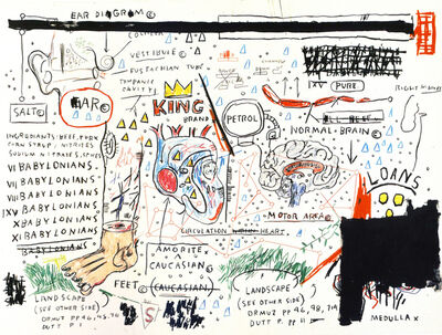 Jean-Michel Basquiat, 'King Brand', 1982-2019