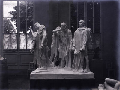 Eugène Druet, 'Les Bourgeois de Calais (The Burghers of Calais)', 1896-1903