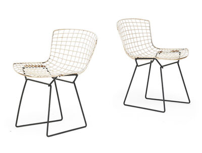 Harry Bertoia, 'Pair of pre-production side chairs', 1950s