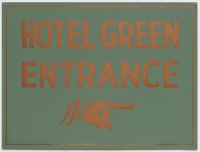 Tom Marioni, 'Green Hotel Entrance'