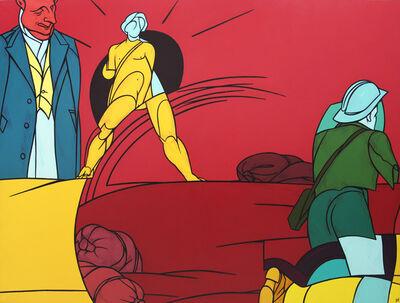 Valerio Adami, 'Visitate le termopili', 1988